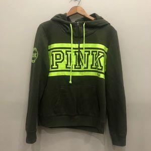 Pink Victoria Secret Green Neon Green Hoodie M